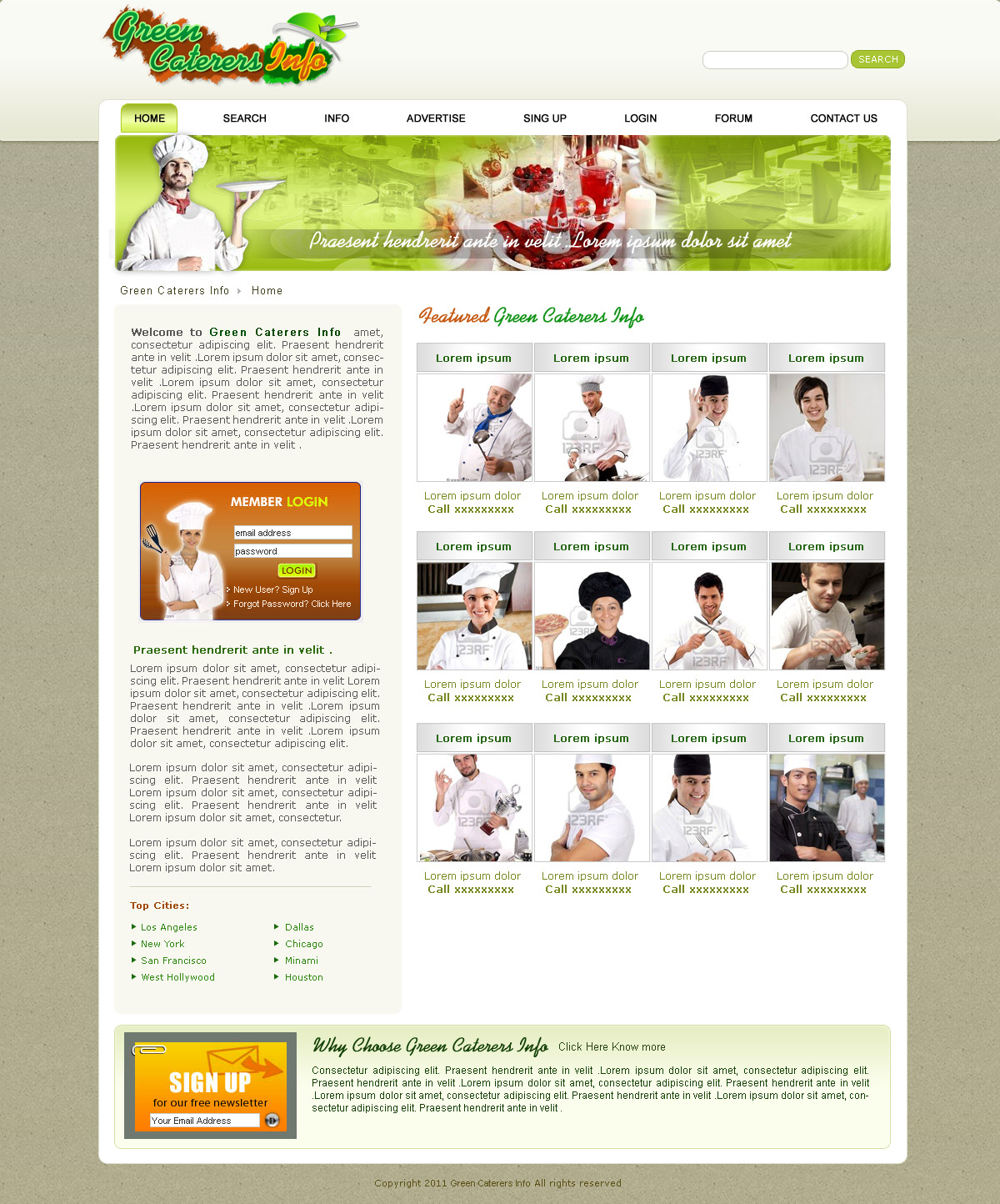 eco-caterers-directory-website